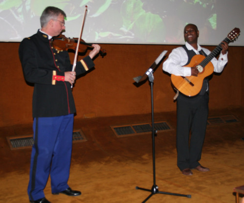 Fred deshayes et violoniste garde republicaine