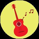 Guitar music icon