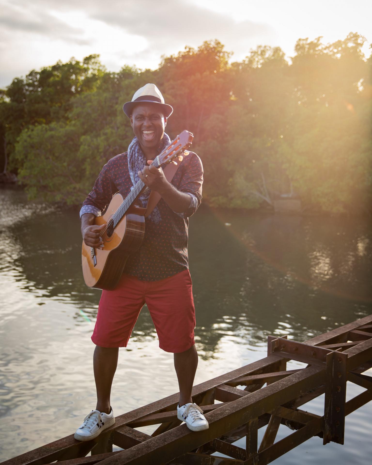 Guitare sous le pont