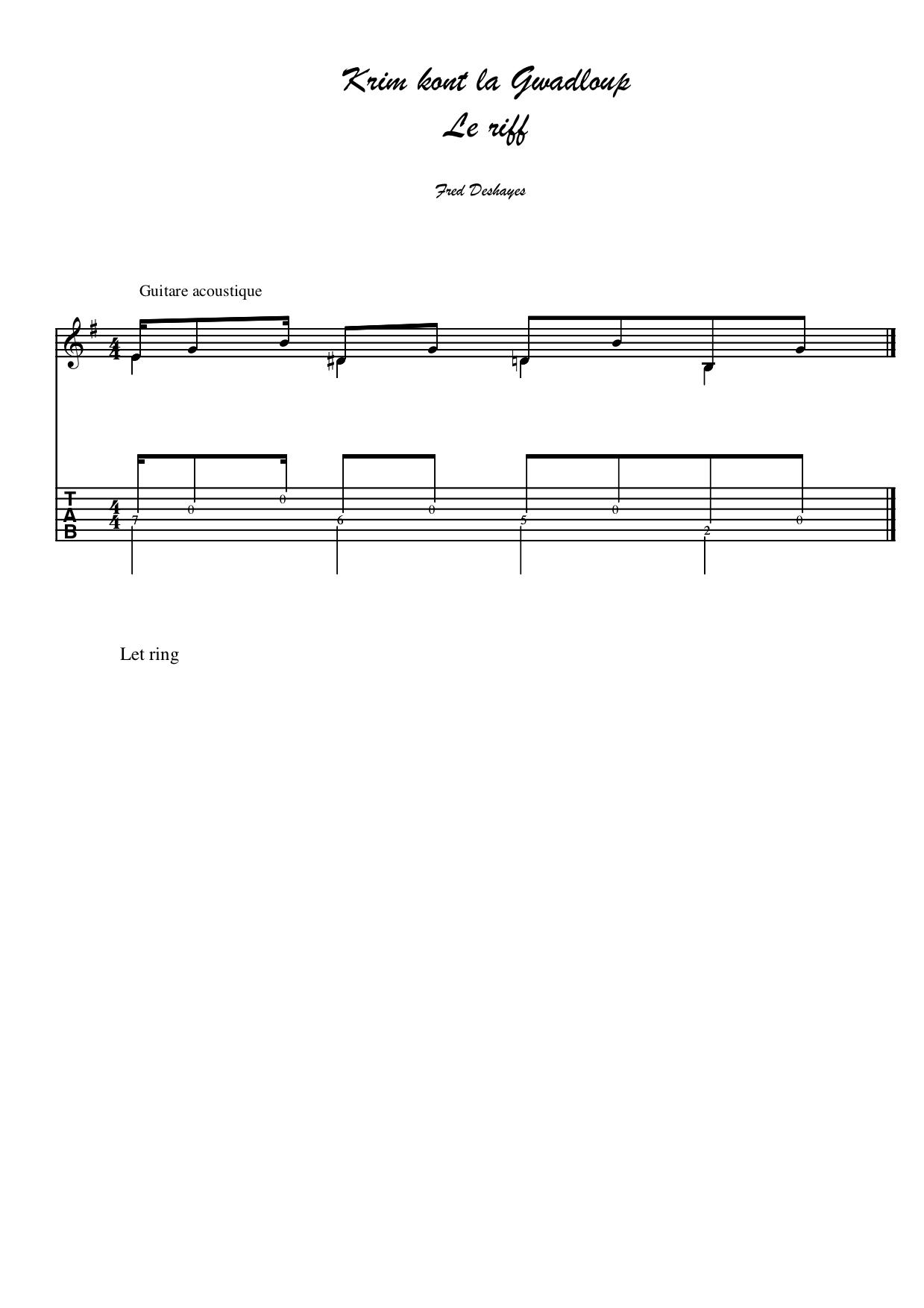 Krim tablature riff